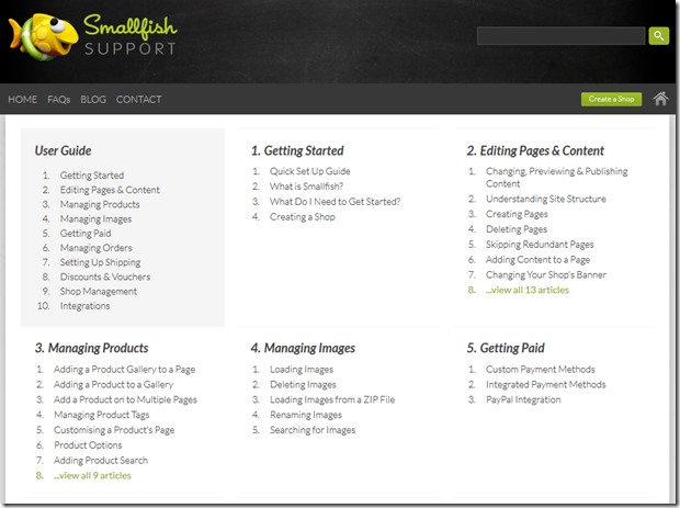 Smallfish support site