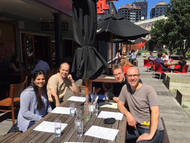 The Smallfish team out for lunch