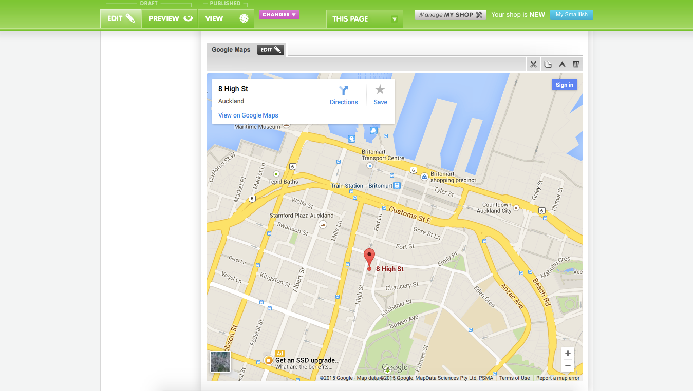 New Beta Feature: Embedded Google Maps | Storbie Blog How To Insert Google Map Into Website on
