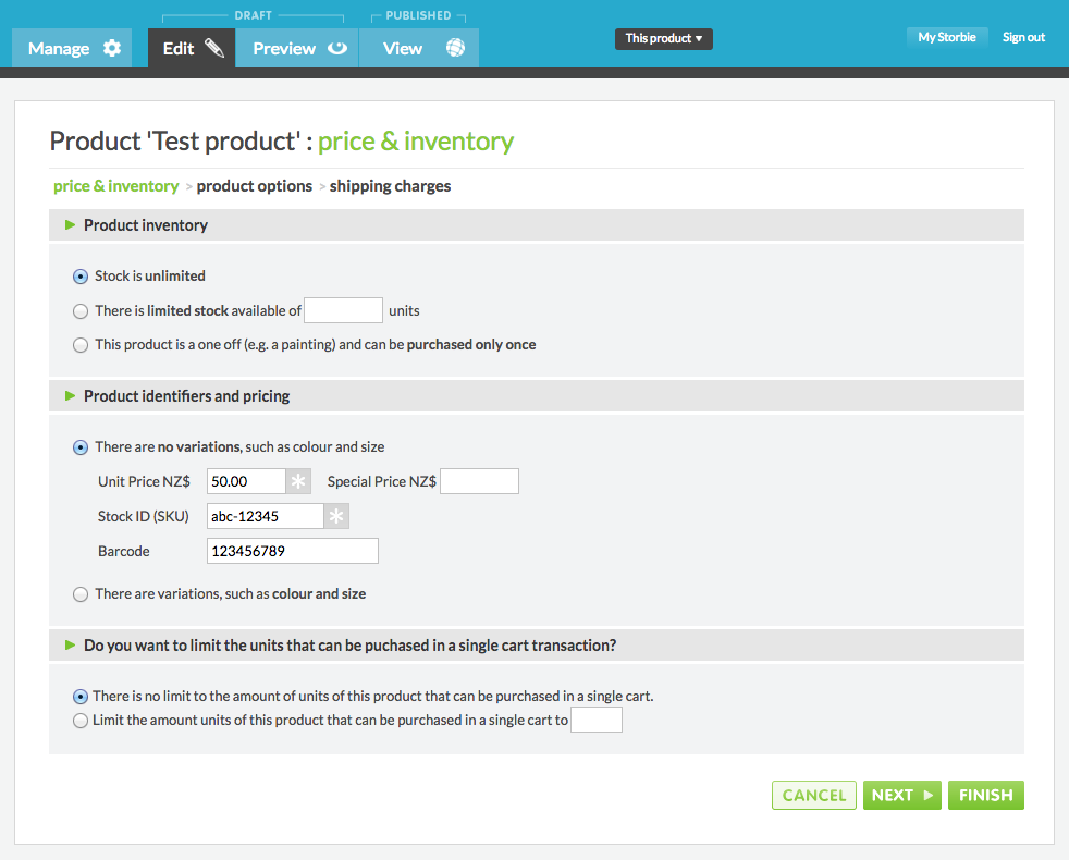 Adding Barcodes To Products And Improvements To Product